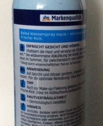 Review: Balea Wasserspray AQUA