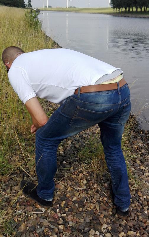 mannen billen jeans